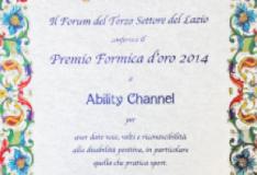 Il Forum del Terzo Settore premia Ability Channel