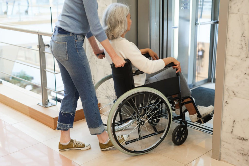 persona disabile con indennità di accompagnamento