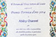 Il Terzo Settore premia Ability Channel