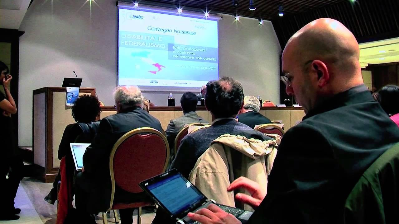 ANFFAS, CONVEGNO SU DISABILITA' E FEDERALISMO: IL PRESIDENTE ROBERTO SPEZIALE