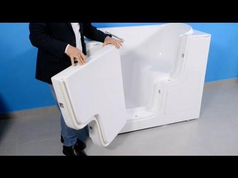 Vasca Da Bagno Stretta : Piastrella bianca vasca da bagno bianca interni legno u foto