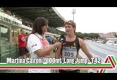 Grosseto 2015: Martina Caironi – 100mt e salto in lungo