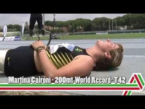Grosseto 2015: Martina Caironi record mondiale nei 200mt