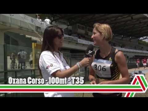 Grosseto 2015: Oxana Corso – 100 mt