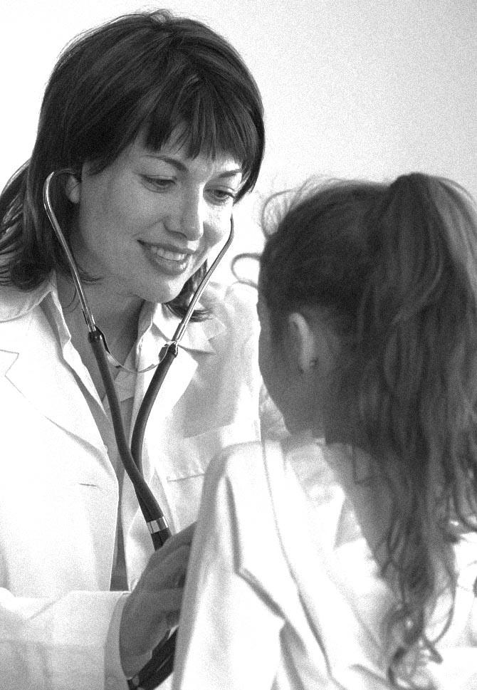 Pediatrician Examining Girl