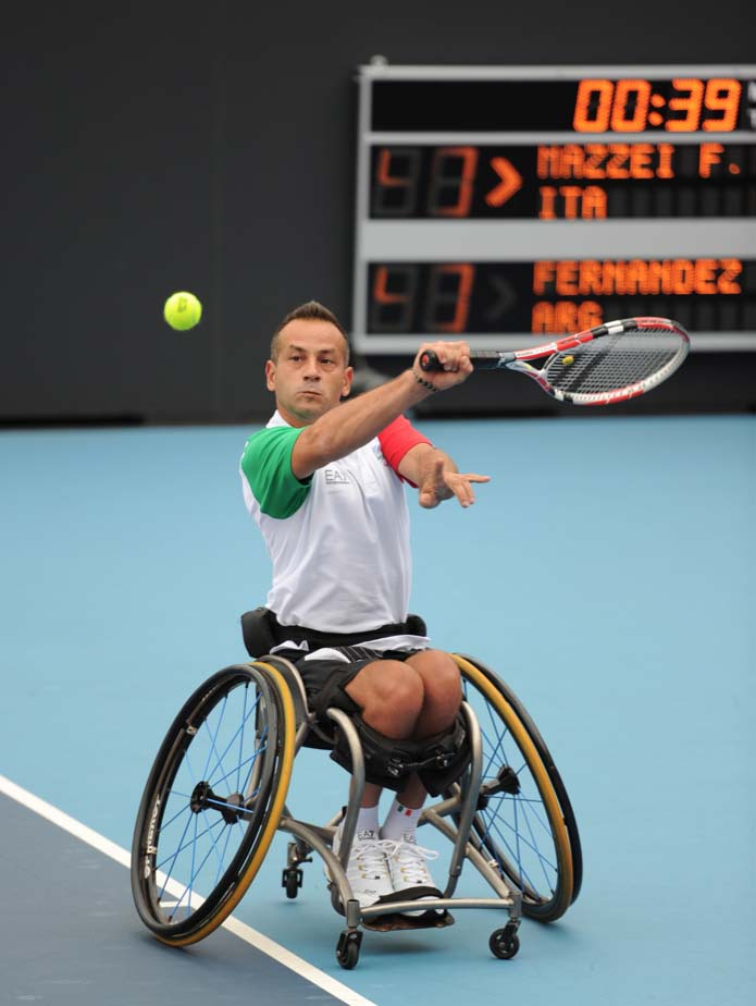 Fabian Mazzei tennis in carrozzina