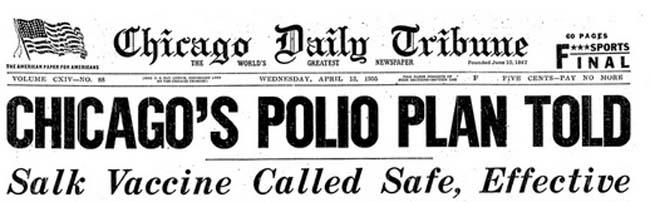 Jonas Salk giornali