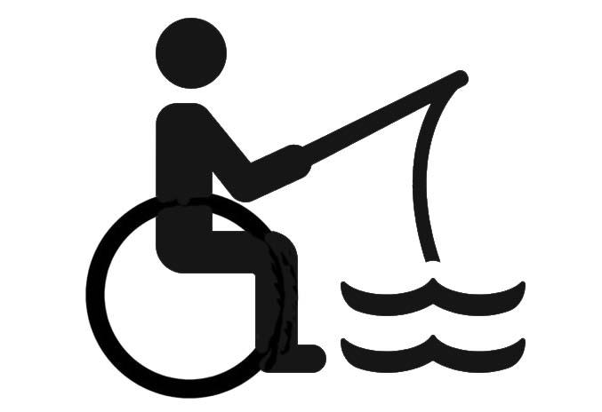 icona pesca disabili