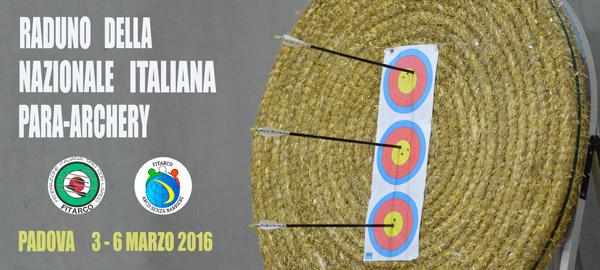 Nuovo raduno per la Nazionale Italiana Para-Archery