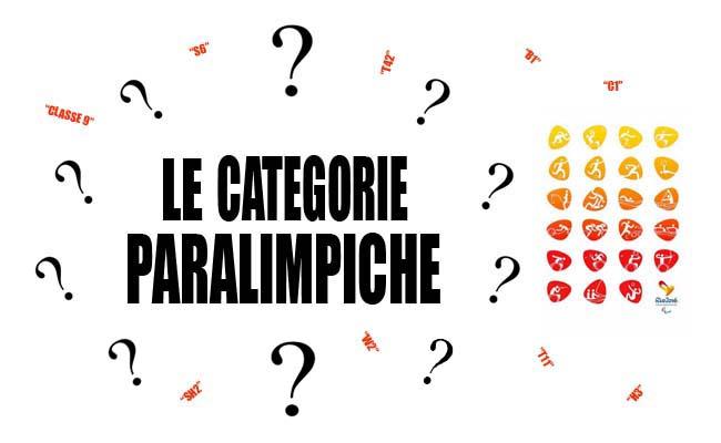 Le Categorie Paralimpiche