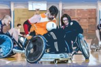 Davide Giozet e il wheelchair rugby al Roma Seven Tournement