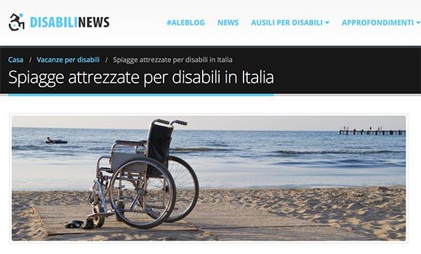 spiaggia disabile