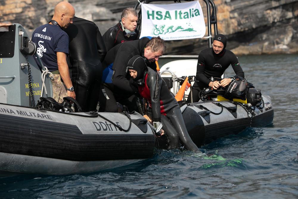 subacquei disabili-70 subacquei disabili-la spezia porto venere le grazie-hsa italia marina militare-ability channel