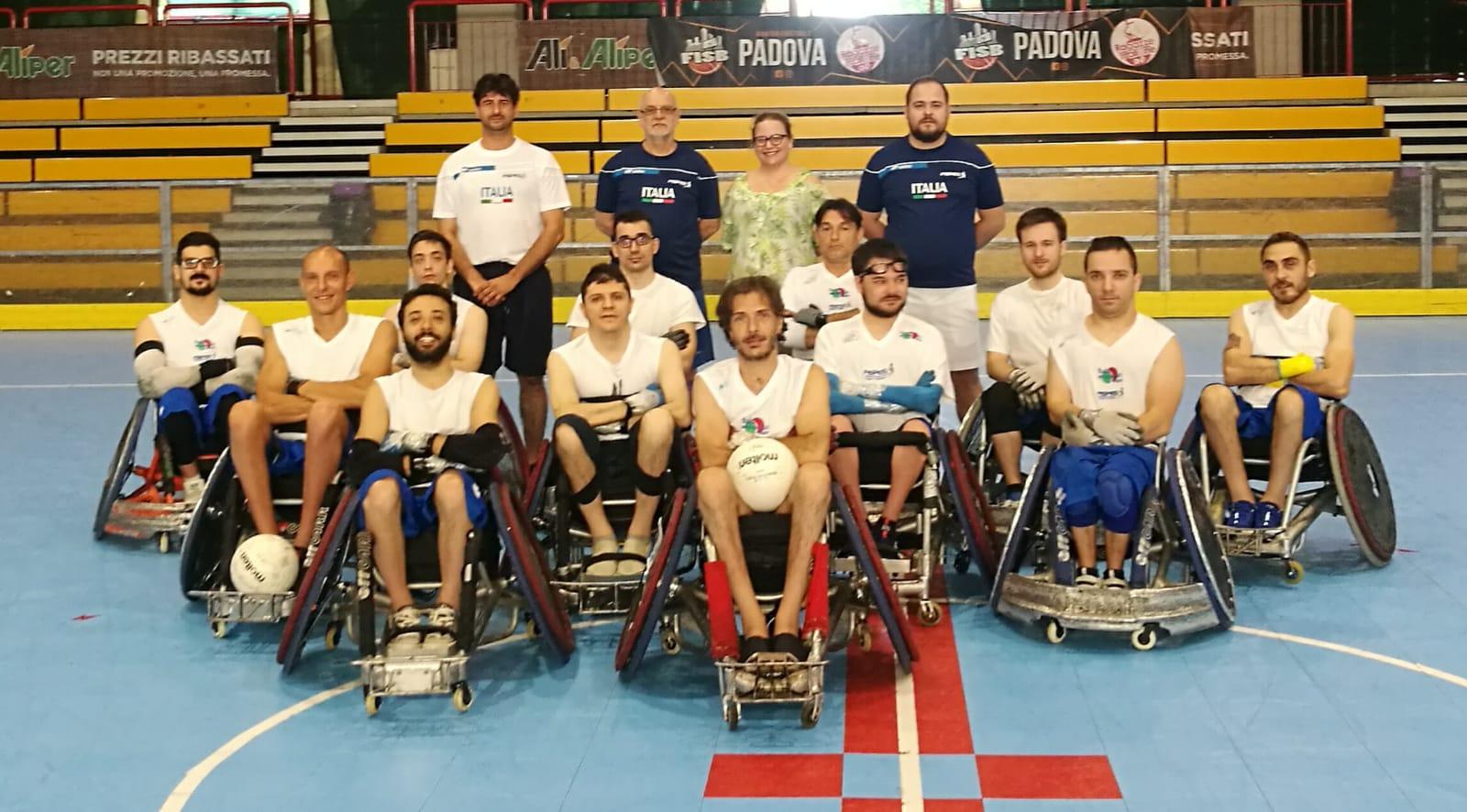 Rugby in carrozzina italia convocati trofeo internazionale di Barcellona