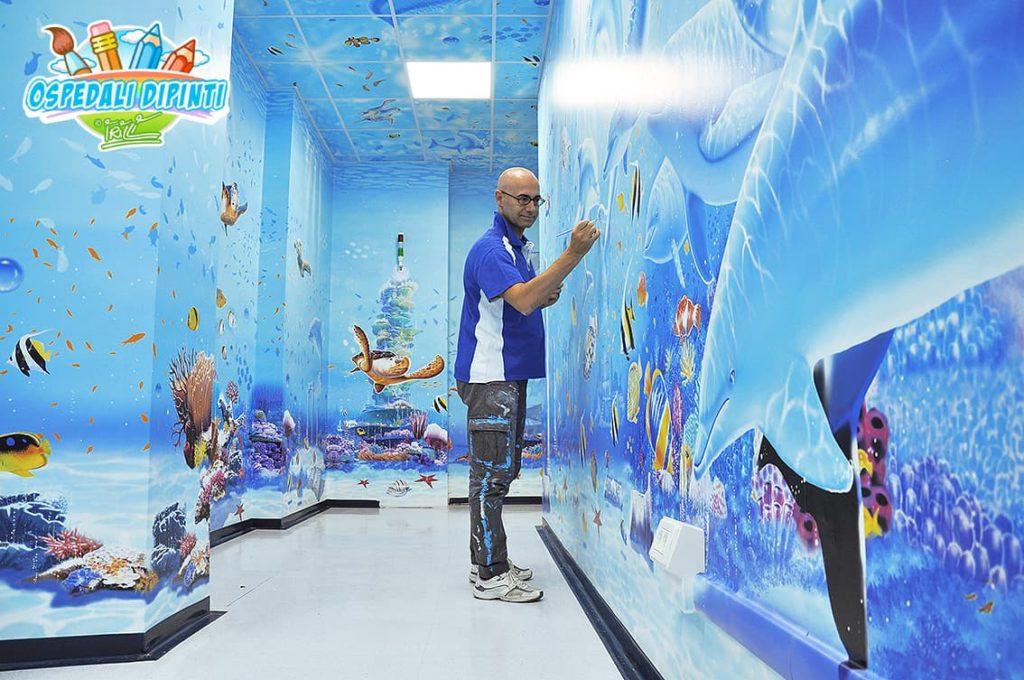 acquario ospedali dipinti gemelli roma silvio irilli