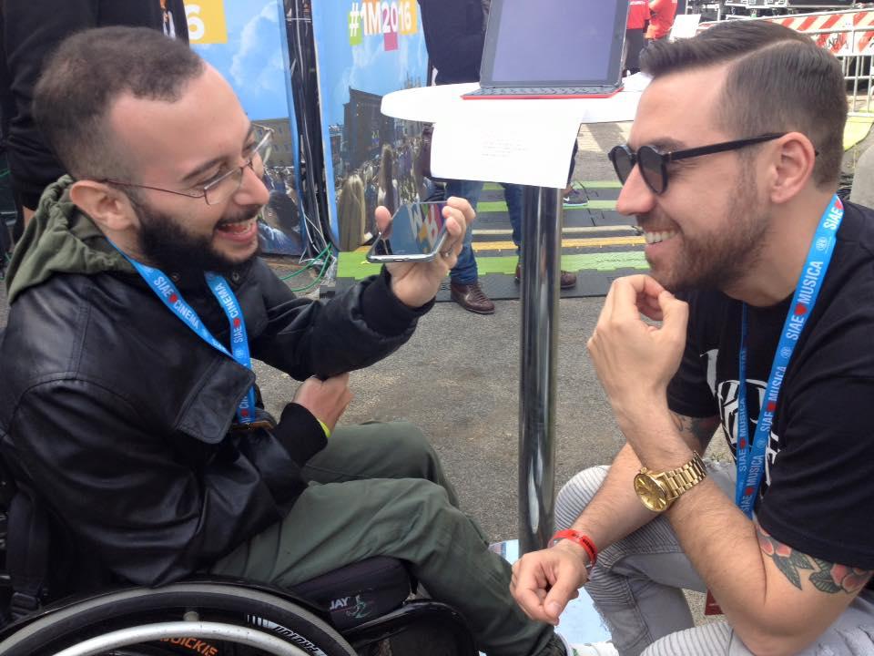 andrea desideri al primo maggio roma con coez disabili al concerto ability channel
