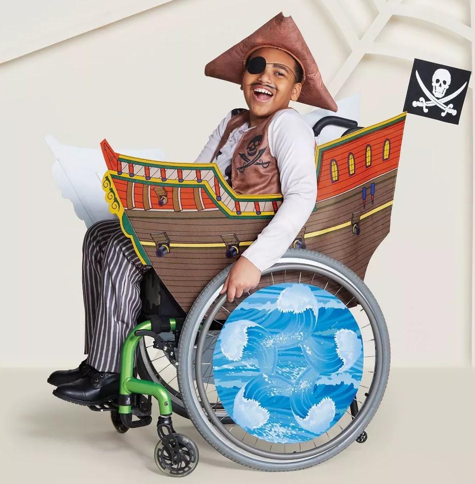 costume da pirata halloween 2019 per bambini in carrozzina