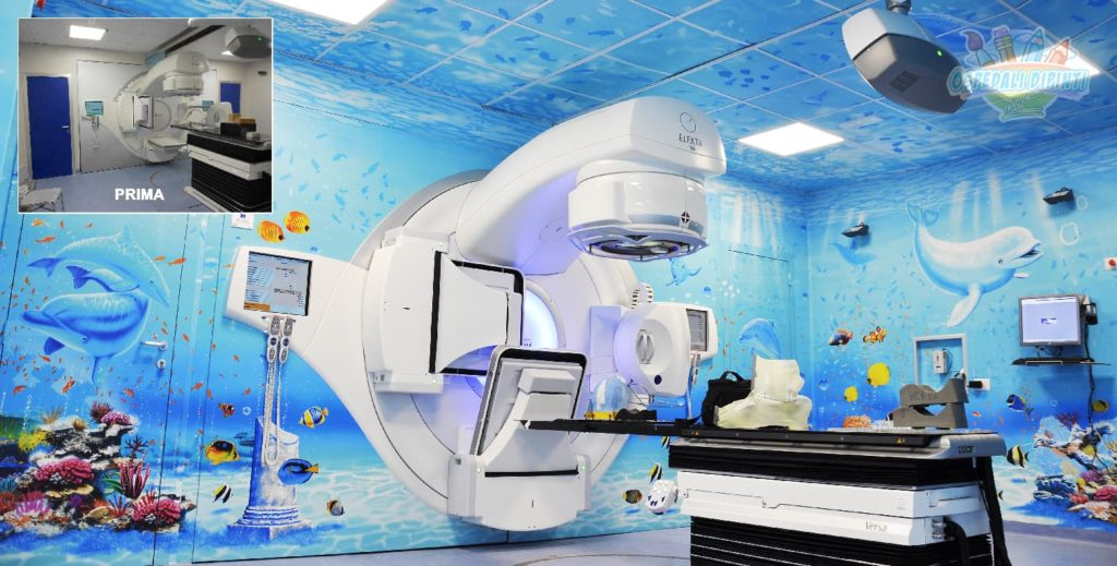 ospedali dipinti reparto radioterapia gemelli roma