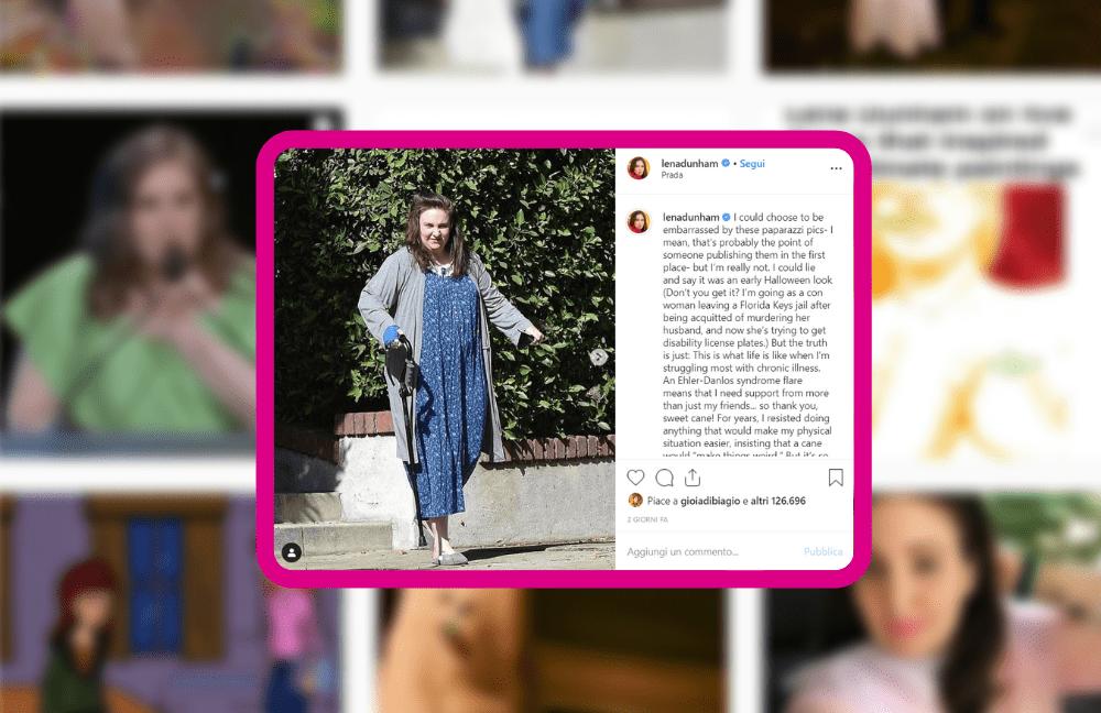 Lena Dunham su instagram