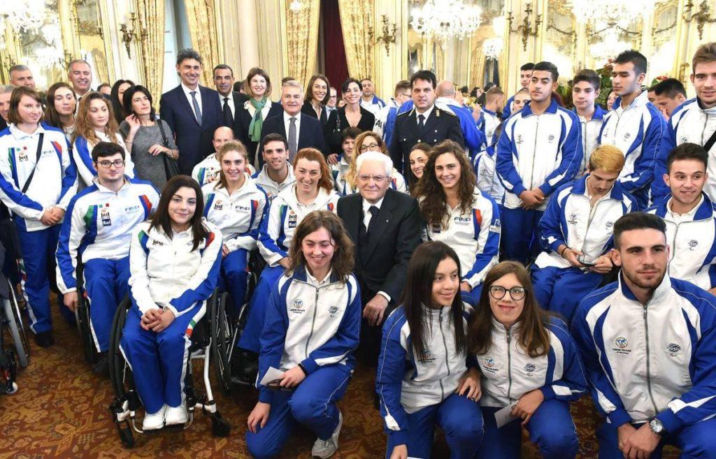 Mattarella incontra delegazione del nuoto paralimpico italiano
