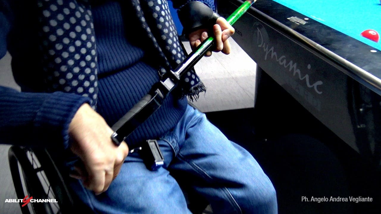 Stecca da biliardo Wheelchair Billiards Ability Channel