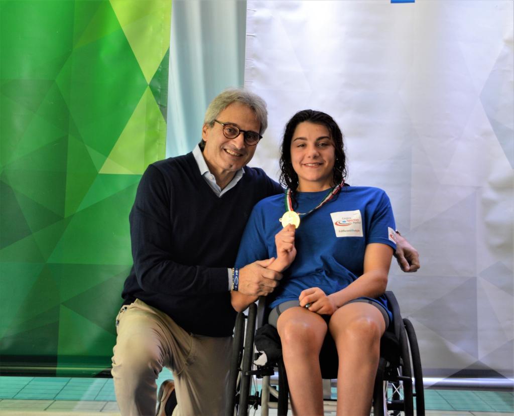 Angelica Procida campionessa di nuoto paralimpico