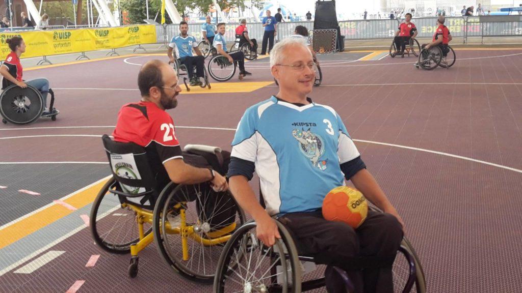 Wheelchair TchoukBall Andrea Lanza intervista al fautore dello sport ability channel