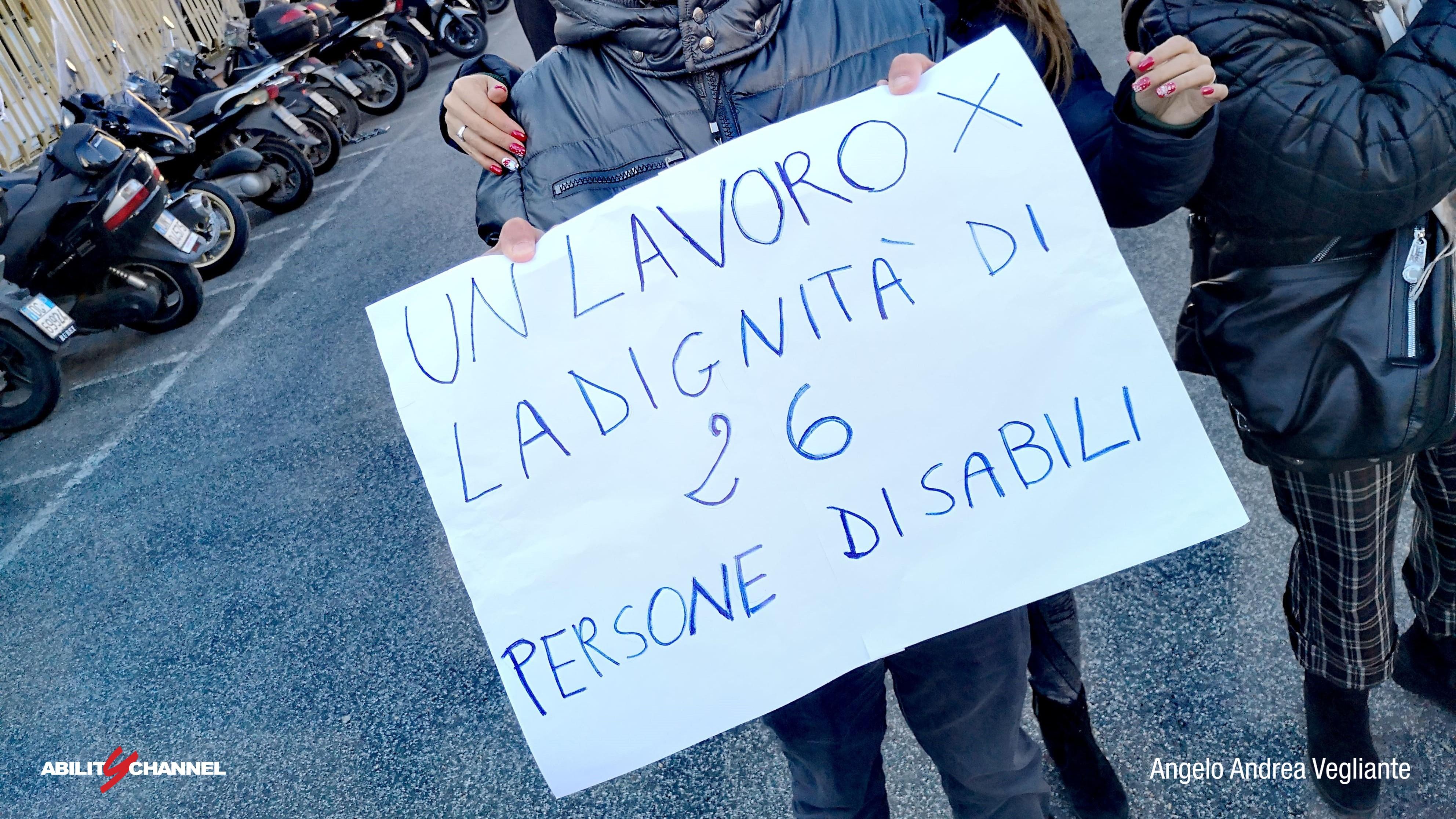 licenziamenti cooperativa acapo lavoratori disabili ability channel manifestazione regione lazio