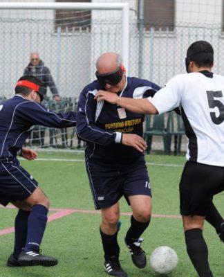 futsal calcio ciechi gioco