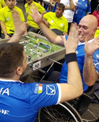 calcio balilla paralimpico italia