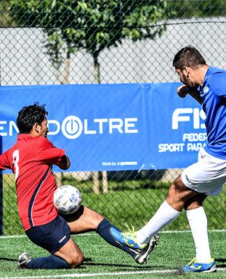 calcio disabilità fispes tiro