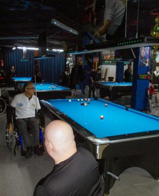 biliardo in carrozzina wheelchair biliard