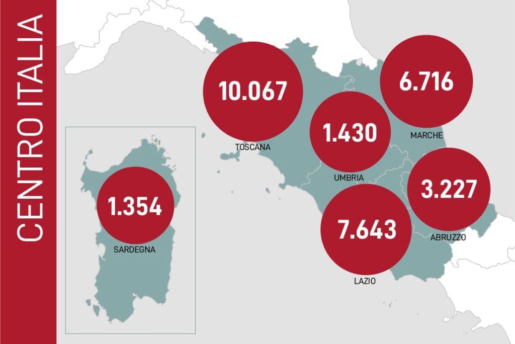 dati contagi coronavirus centro italia 25 maggio 2020