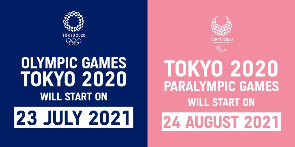 nuove date Olimpiadi e Paralimpiadi Tokyo 2020