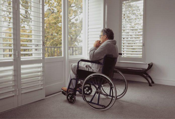 papà disabile in casa durante coronavirus italia