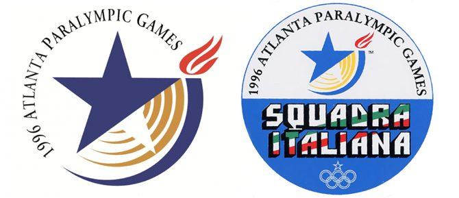 Storia delle Paralimpiadi Atlanta 1996 loghi