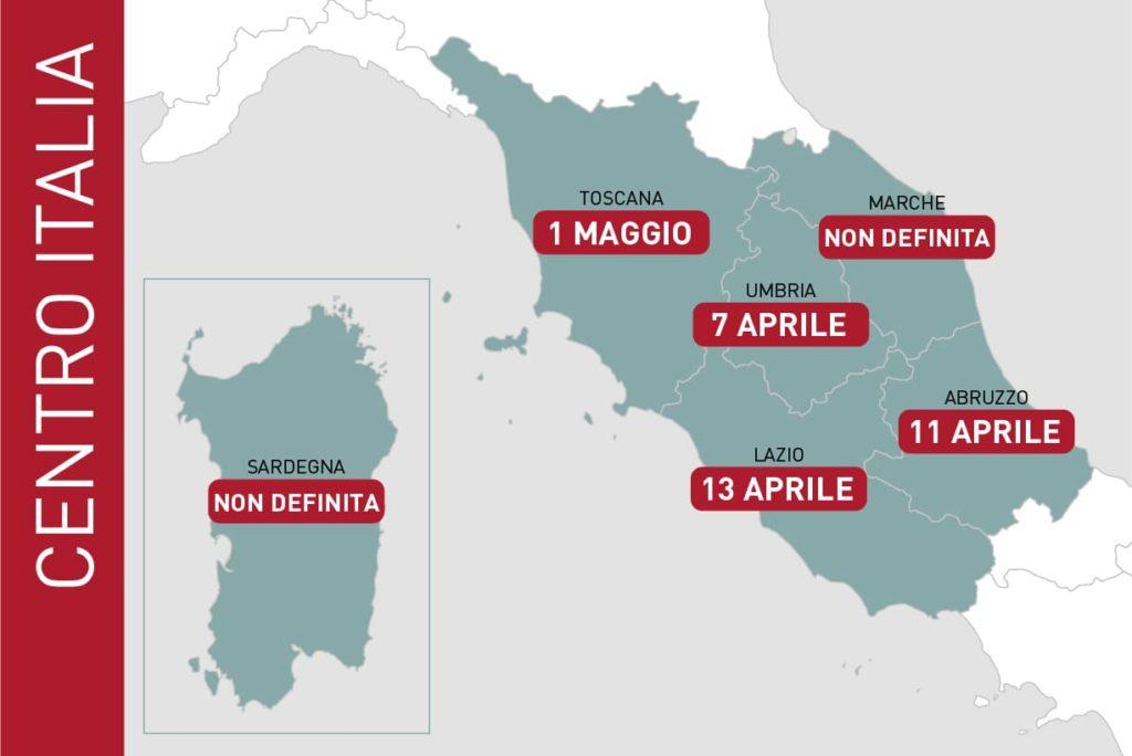 dati EIEF previsione fine emergenza coronavirus centro italia
