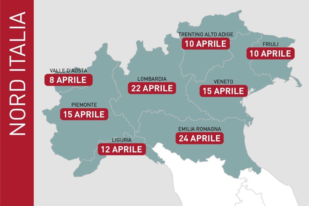 dati EIEF previsione fine emergenza coronavirus nord italia