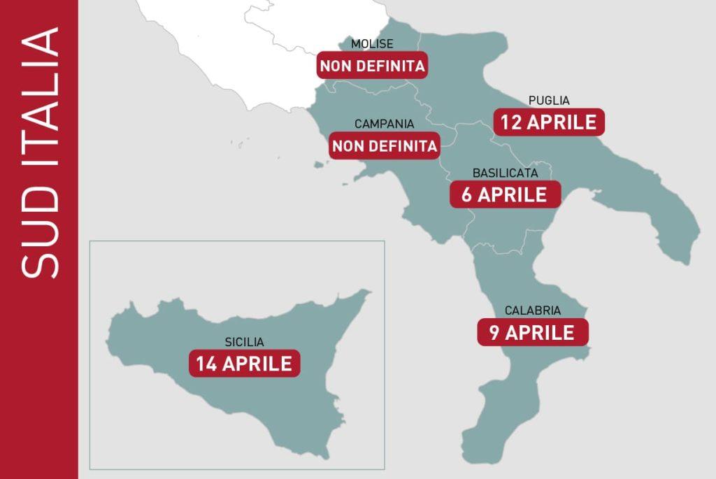 dati EIEF previsione fine emergenza coronavirus sud italia