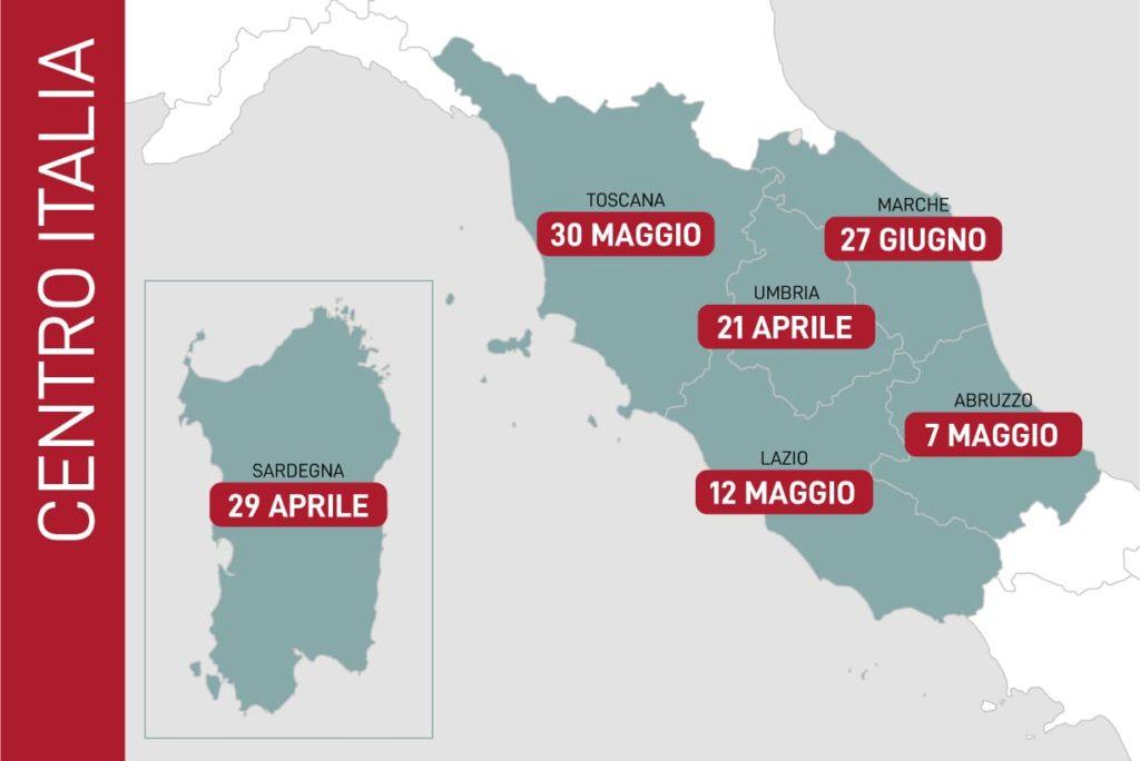 fine emergenza coronavirus in centro italia