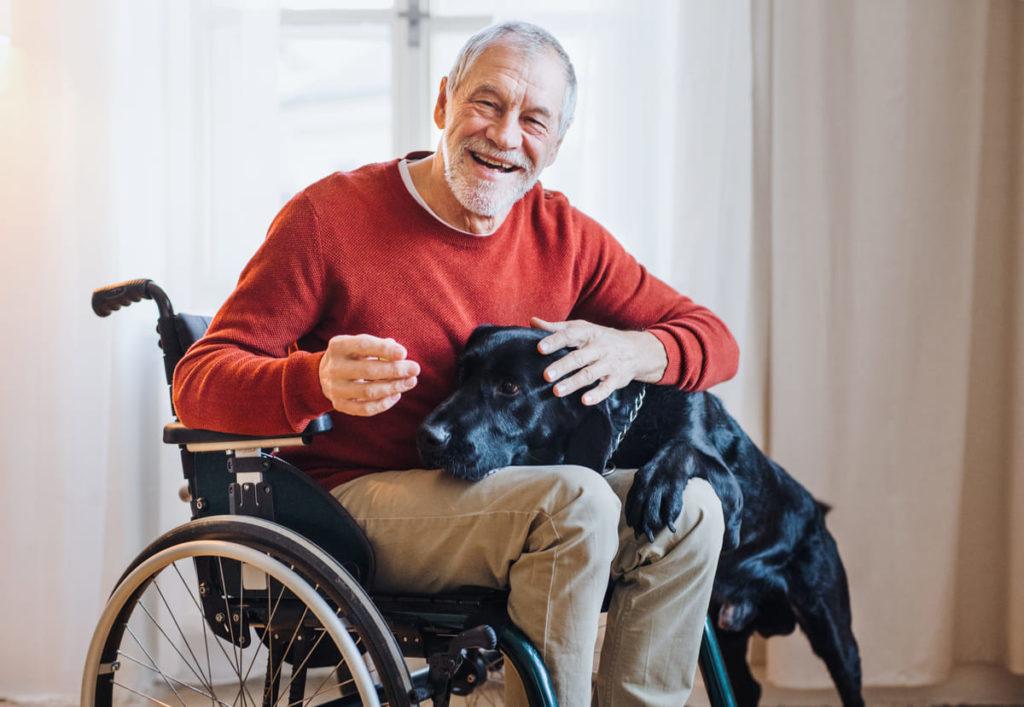 persona disabile in casa durante coronavirus
