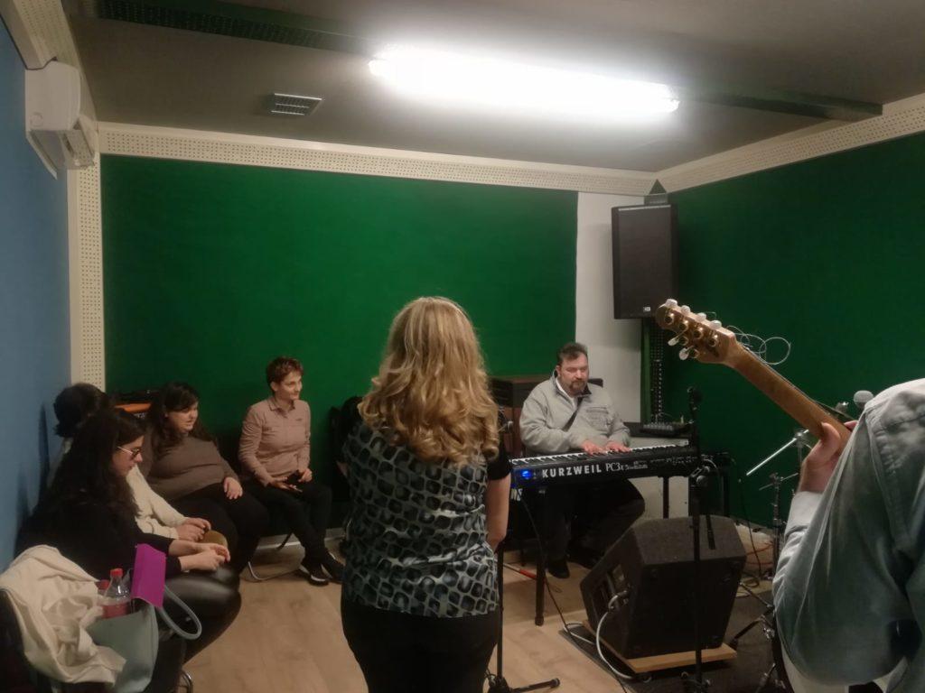 Orbite Sonore in studio di registrazione