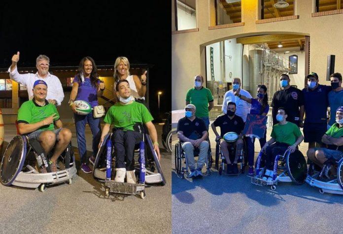 Giusy Versace e Disabili No Limits donano ausili per rugby in carrozzina