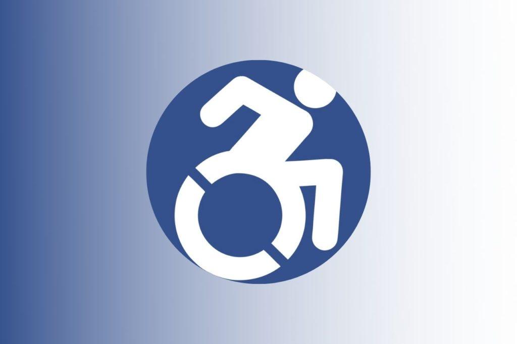 simbolo disabile in movimento