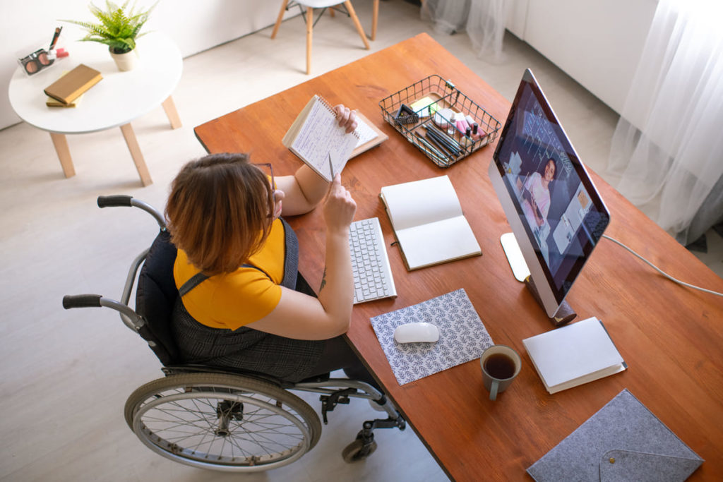 persona disabile in smart working