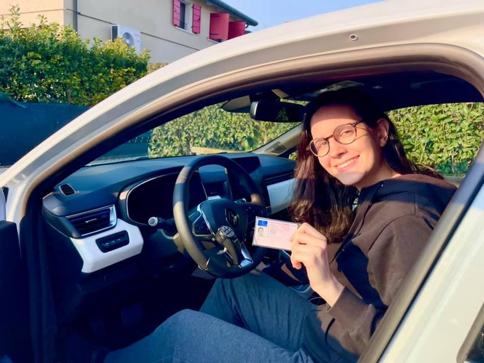 la patente di guida di francesca cipelli