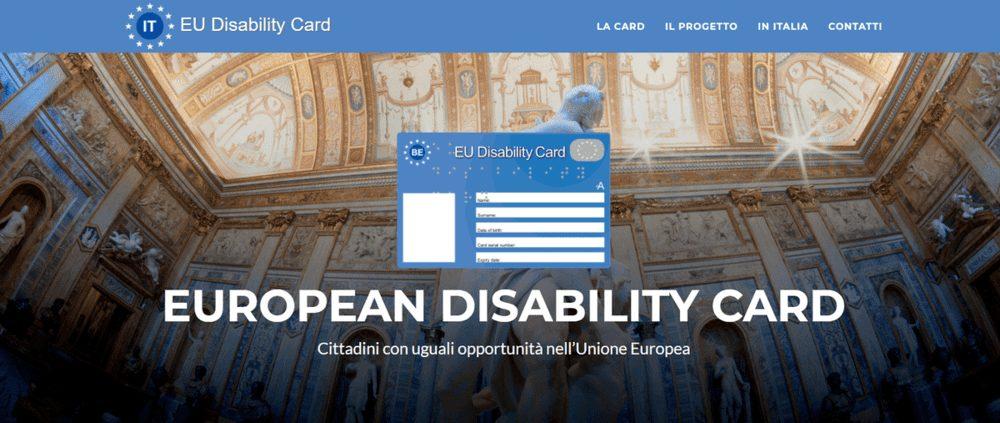 sito european disability card