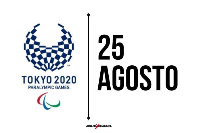 orari programma paralimpiadi tokyo 2020 25 agosto
