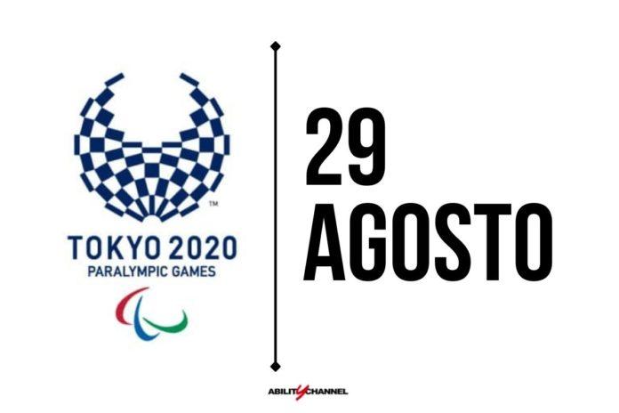 orari programma paralimpiadi di tokyo 2020 29 agosto