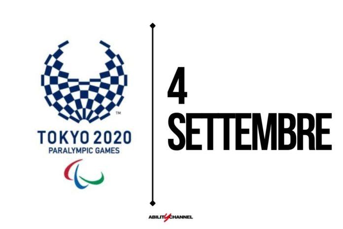 orari programma paralimpiadi tokyo 2020 4 settembre 2021